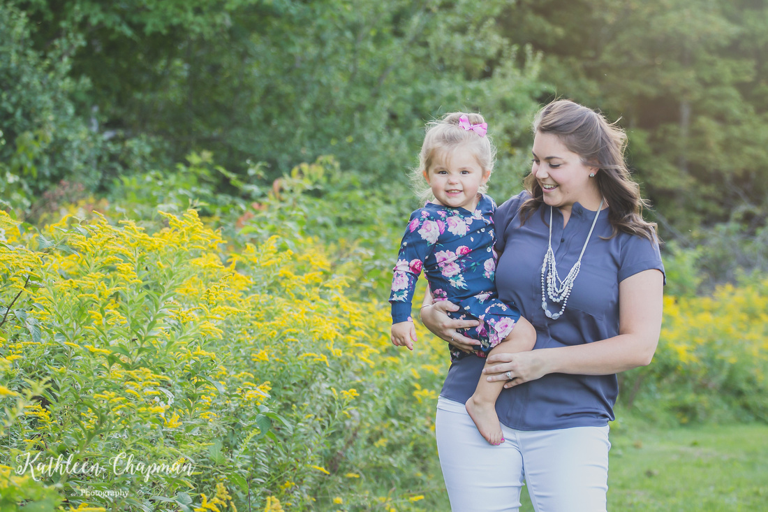 Mommy and Me portrait in garden in Dickinson Center NY