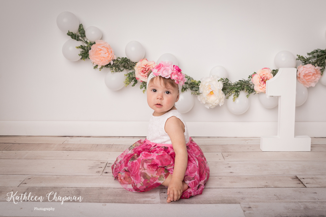 girl with balloon garland | dickinson center family photographer