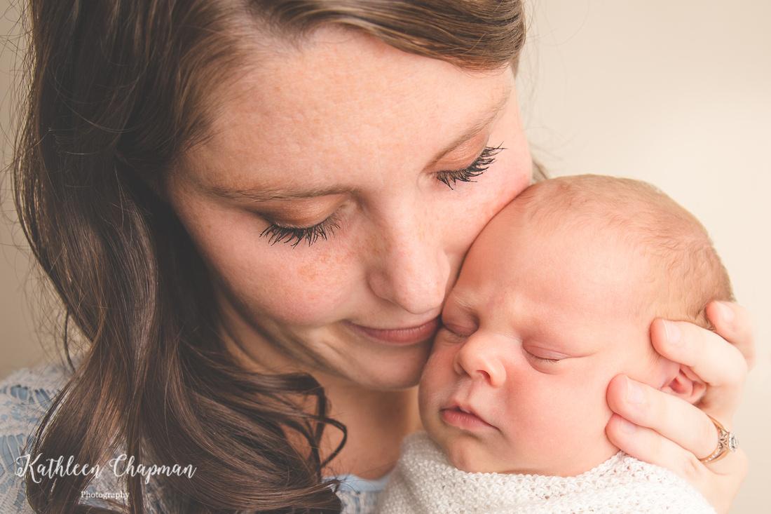 Newborn and mother portrait   Potsdam NY newborn photographer