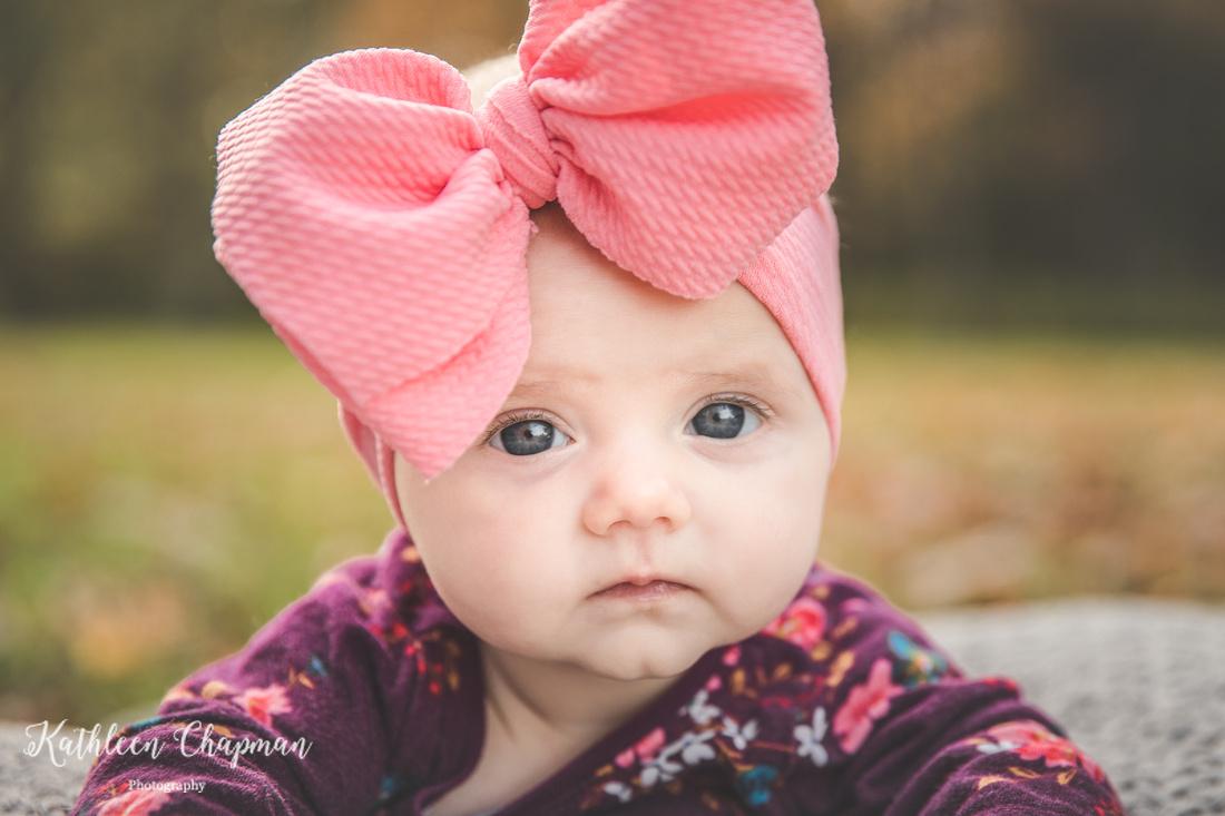Baby girl fall portrait | Potsdam NY child photographer