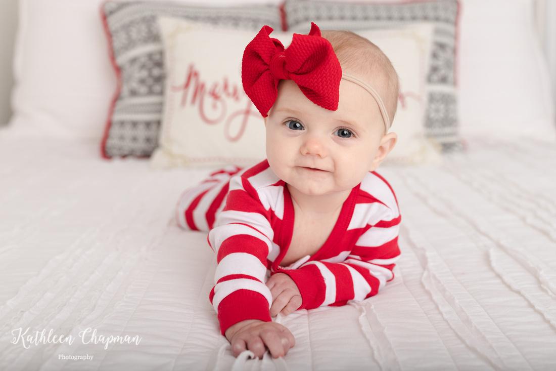 Baby girl holiday mini session | Dickinson Center NY child photographer