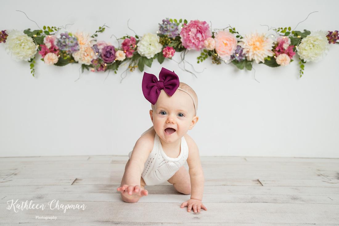 Smiling first birthday girl | Potsdam NY child photographer