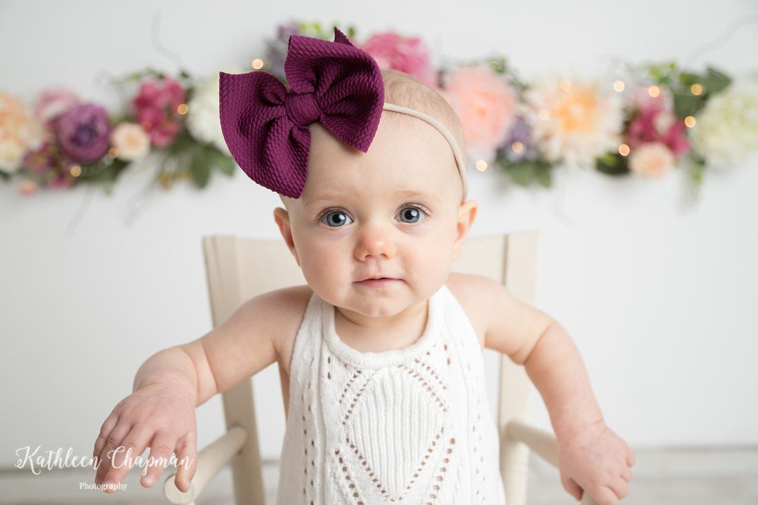 Beautiful 1st birthday girl portrait | Dickinson Center Child Photographer