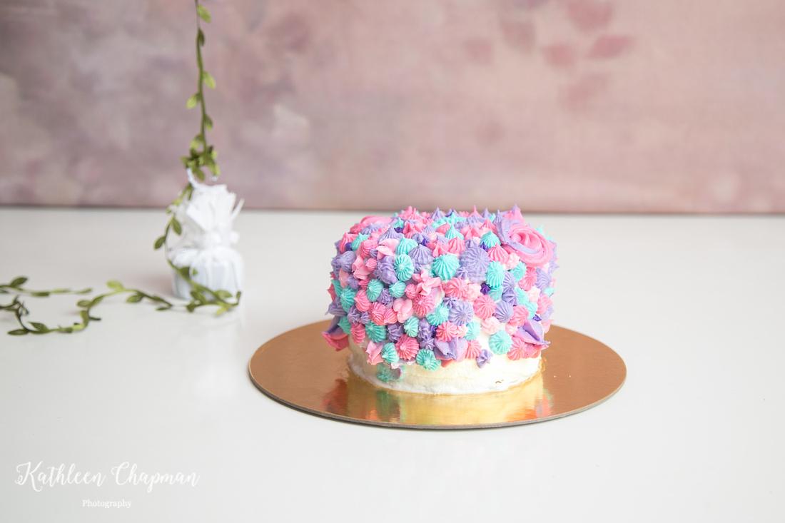 Colorful cake smash cake | Malone NY child photographer