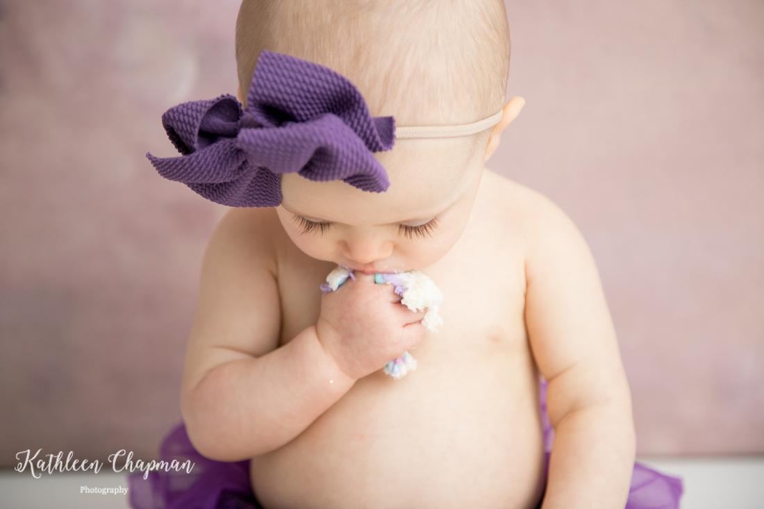 Baby girl long eye lashes | Dickinson Center family photographer