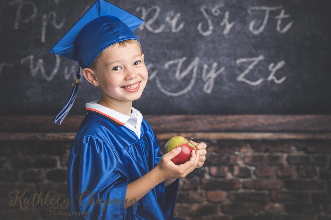 1st grade graduation mini session | Dickinson Center NY child photographer