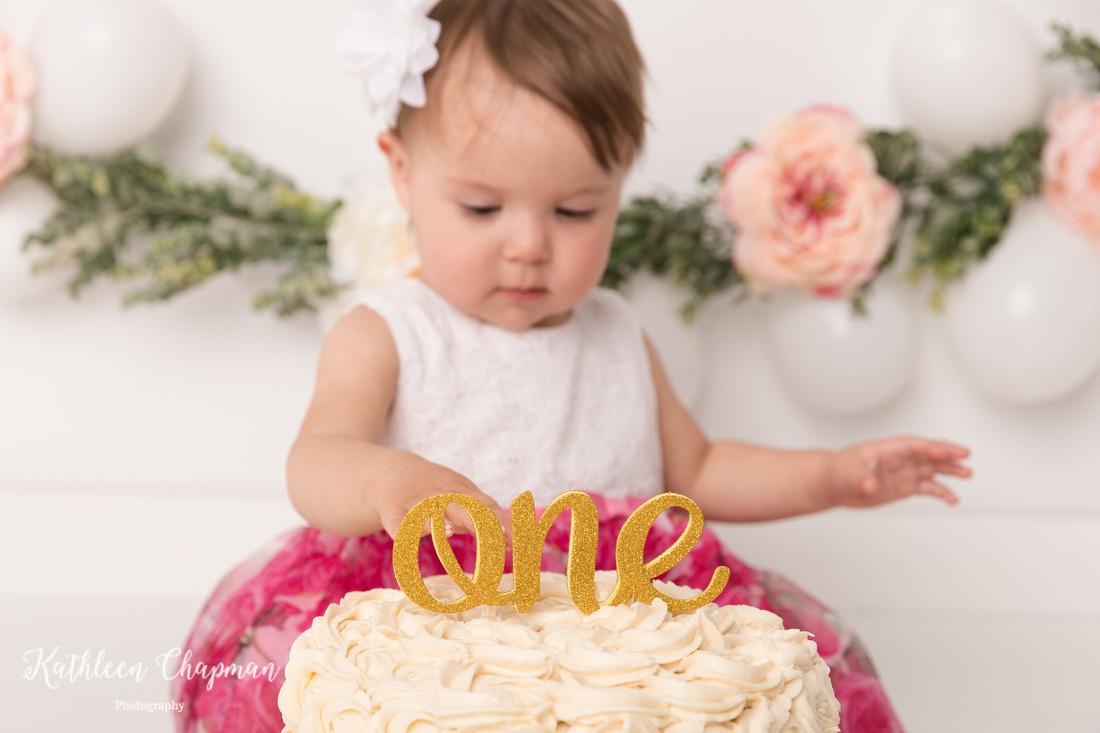 toddler cake smash   dickinson center ny child photographer